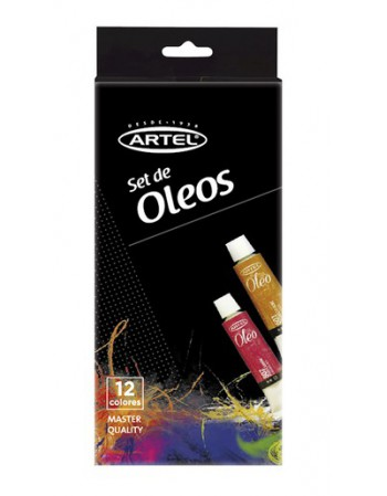 Set Oleos 12 Colores 12ml.  Artel 26000005