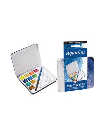 Set Acuarela Aquafine Mini Travel 10col. Half Pan 131900910