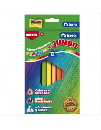 Lapices 12 Col. Jumbo Triang. Torre Imagia 22663