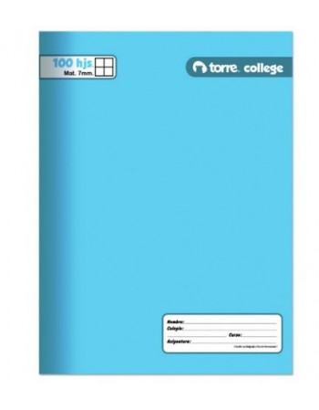 Cuad. Torre College Liso 7mm 100H 23414