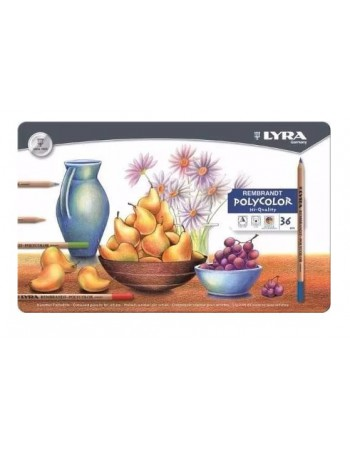 Lapices Lyra Poly Lata 36 Colores 1360 2001360
