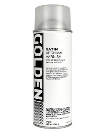 Barniz Spray Satin Golden MSA 400ml. 5047736-X