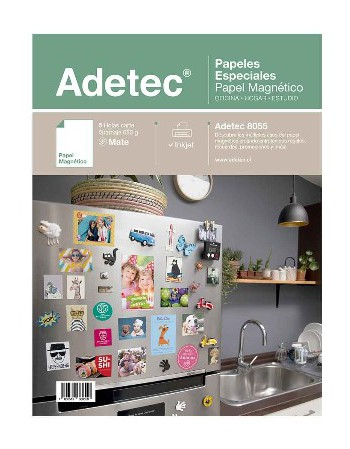 Papel Magnetico Adetec Ink-Jet Mate 5U 650g 216x279 08055
