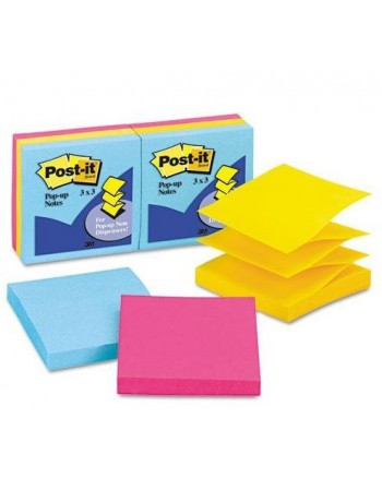Post-it Notes 3M R-330-AU Pop-Up Fluor 4859-9 4864-9 4861-5