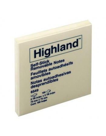 Post-it Notes Highland 654-9 Amaril. 7.6x7.6cm 1989-1 122148