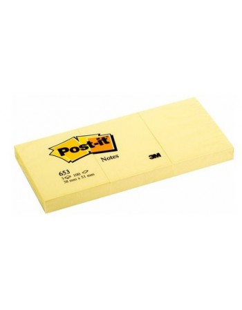 Post-it Notes 3M 653 Amarillo 100H 3.8x5cm 4347-6