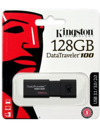 -Pendrive 128GB Kingston USB 3.0 100 G3 / G4