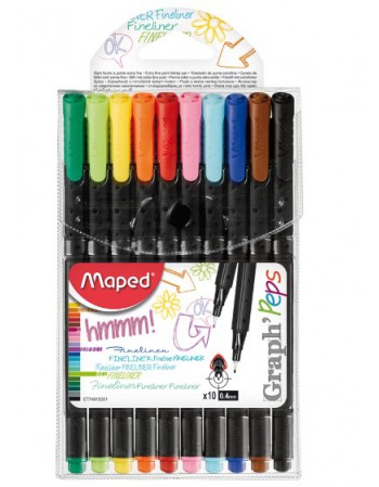 Set Fineliner Maped Graphpeps x10 50320341/749150