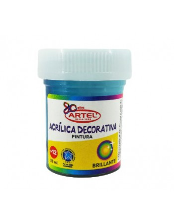 Frasco Pintura Acril. 28ml N400 Azul Calipso Artel 10075440