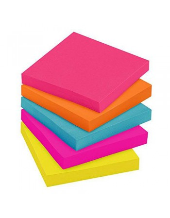 Post-it Notes 3M 654-5PK  Unidad 100H Colores Neon 4931-6