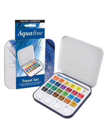 Set Acuarela Aquafine Travel Tin 24col. Half Pan 131900924