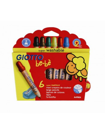 Lapices 6Col. Washable Cortos Giotto Be-Be 60104 Fila 466400