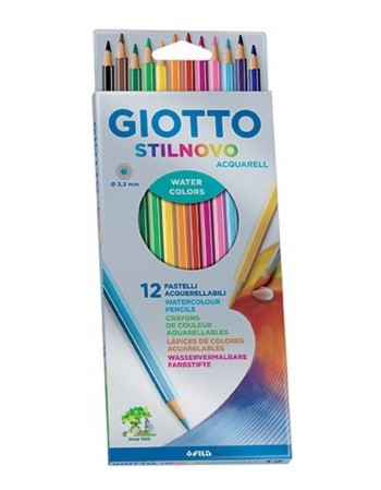 Lapices Giotto Aquarelables  12 Colores  255700