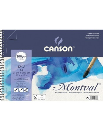 Block Pad Montval 12S A4 300G Canson C200807160
